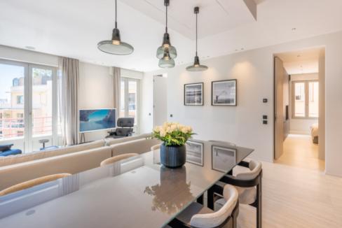 Four Room Apartment Carré d'Or Monaco Dining Area