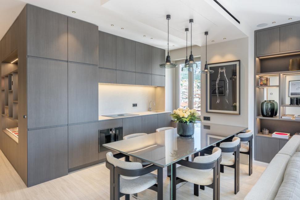 Four Room Apartment Carré d'Or Monaco Kitchen