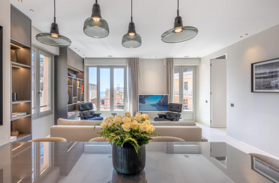 Four Room Apartment Carré d'Or Monaco Living Room
