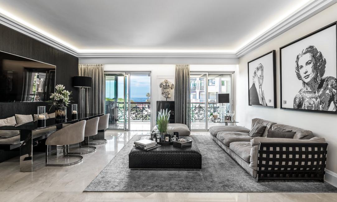 Luxury Apartment Monaco Fontvieille Living Room Guetig Group