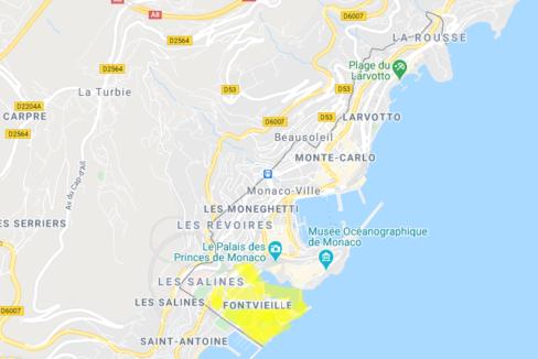 Luxury Apartment Monaco Fontvieille Location Map Guetig Group