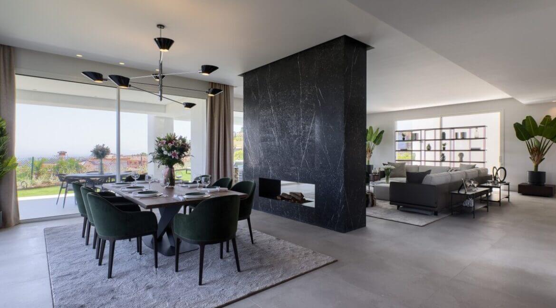 5 bedroom golf and sea view villa in El Paraiso Estepona Livingarea 1